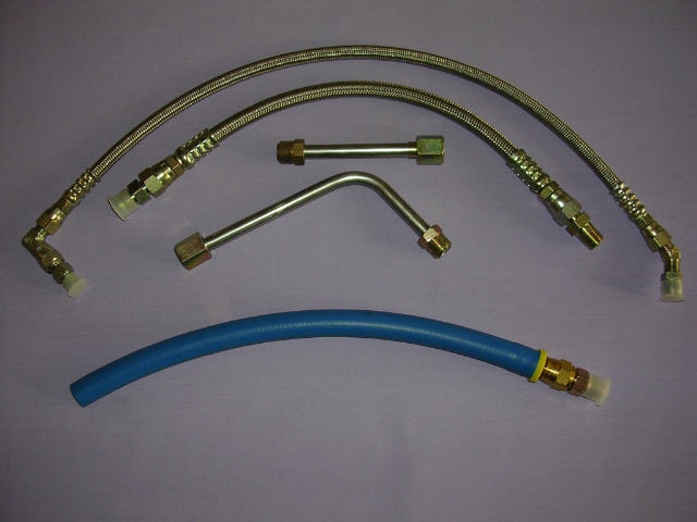 Braided Coolant Lines : High flow braided steel oil coolant supply line kit for